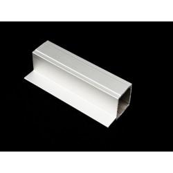Profil aluminiowy kwadratowy z jednym piórem