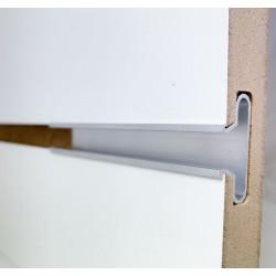 Wsuwka do panelu, aluminiowa w kształcie T z kołnierzem